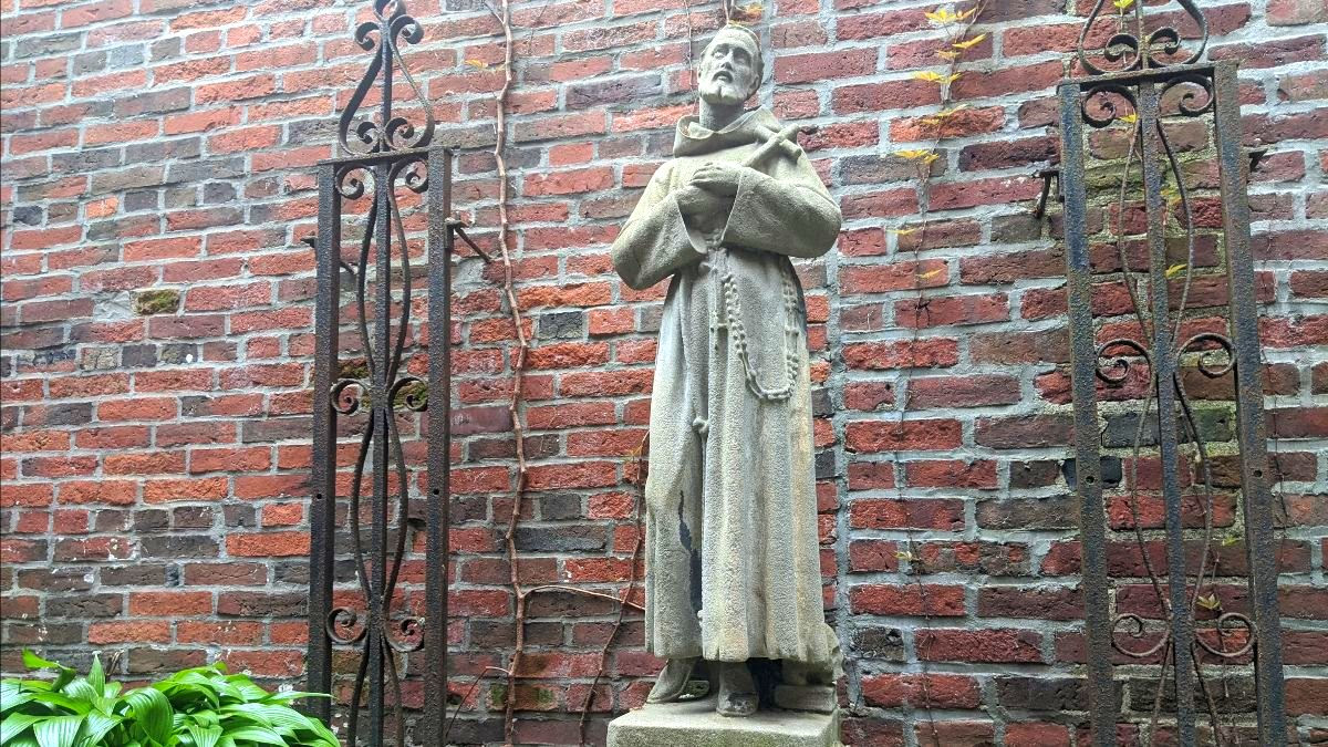 St. Francis, the stalwart courtyard statue